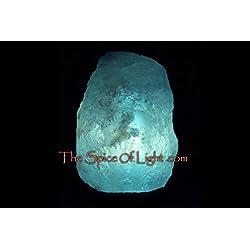 Natural Glacier Crystal Blue Himalayan Salt Lamp