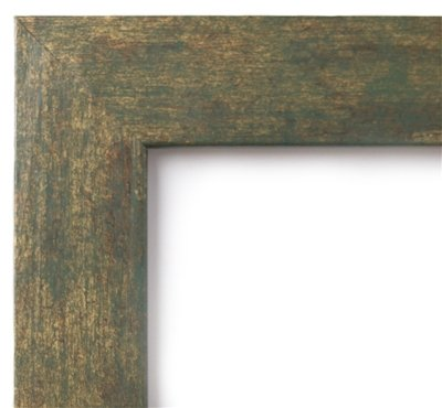 US Art Frames 23x35 Seaweed Gold 1.5 Inch Flat Faux Finish, MDF Wood Composite Picture Poster Frame