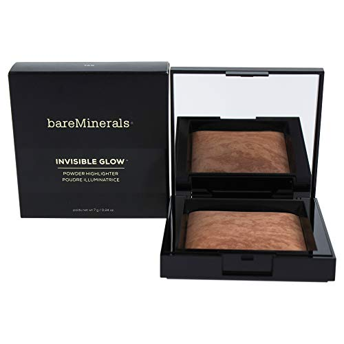 bareMinerals Invisible Glow Powder Highlighter Tan for Women, 0.24 Ounce ()