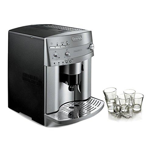 DeLonghi Magnifica Super Automatic Espresso Machine with Free Set of 6 Italian Espresso Shot Glasses