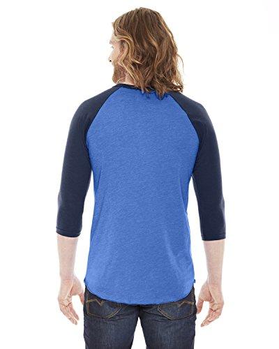 Nvy nbsp;w shirt nbsp;manches 3 nbsp;raglan 50 4 American Hth Lk T Apparel 50 Bb453 Blue gqRx6qwTU