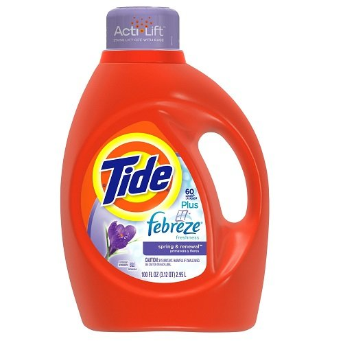 Tide Plus Febreze Freshness Spring And Renewal Scent Liquid Laundry Detergent 100 Fl Oz (Pack of 4) by Tide