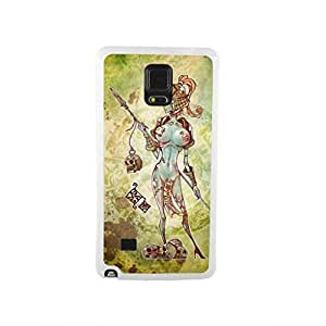 CaseCityLiu - Naked Female Chinese Zombie Myth 3D Design White Bumper Plastic+TPU Case Cover for Samsung Galaxy Note4