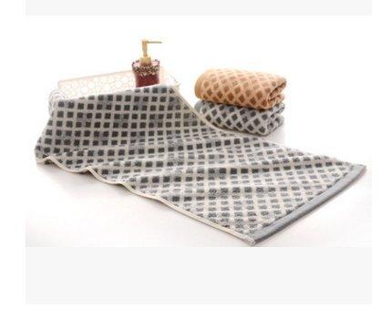 Toallas de algodón puro adulto cara lávate la cara toallas nombre Woo , gris oscuro: Amazon.es: Hogar