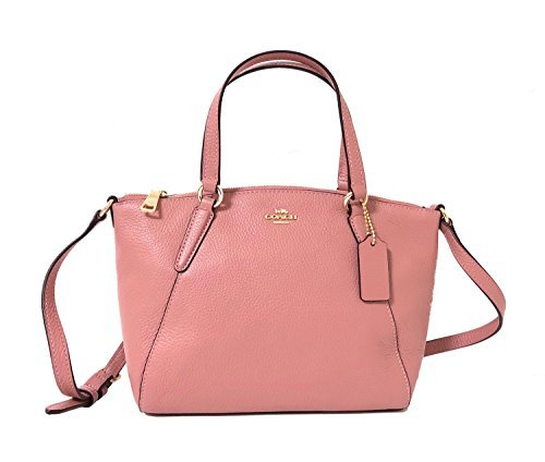 Coach Pebble Leather Mini Kelsey Satchel Crossbody Handbag (IM/Vintage Pink)
