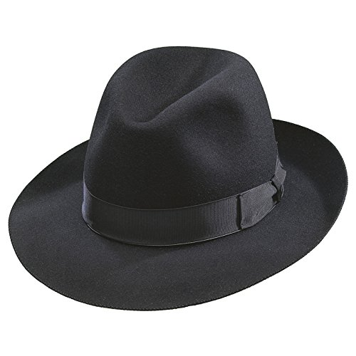 Borsalino Como Fedora - Black - 61 (Borsalino Fedora Hats For Men)