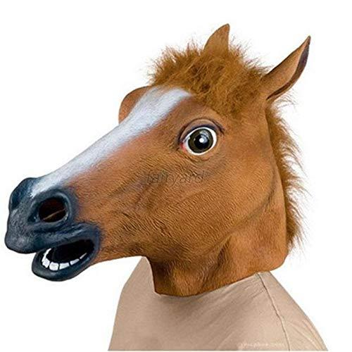Party Masks - Horse Head Mask Animal Costume N Toys Party Halloween Masks - Stick Wear Pack Dinosaur Gold Party Masks Superhero Sticks Women Glasses Male Adult Kids Masquerade Headbands Adu ()