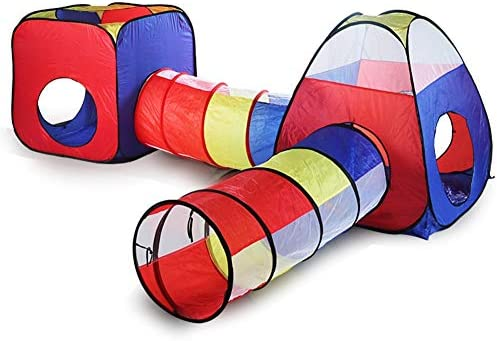 4 in 1 Pop Up Tent Toddlers Crawl Tunnel Playhouse Ball Pit Folding Tent with Zipper Storage Bag Babies Toy Gifts for Children Girls Boys Indoor and Outdoor Use EocuSun Kids Play Tent