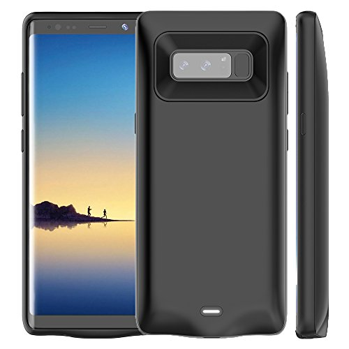 Galaxy Note 8 Battery Case, Wuloo 5500 mAh Charger Case Rechargeable Extended Backup Battery Pack Portable Charging Case Power Bank Cover for Samsung Galaxy Note 8