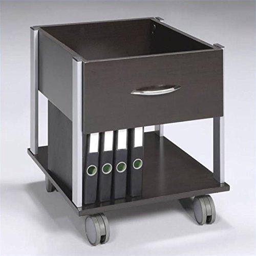 Scranton and Co Mobile Wood File Cabinet in Espresso by Scranton & Co