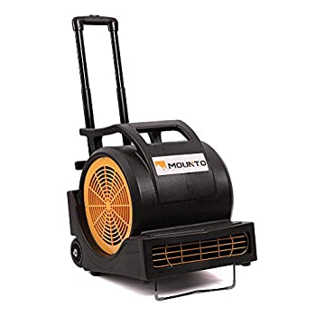 Image of Home and Kitchen MOUNTO 3-Speed 1Hp 4000 Plus CFM Monster Air Mover Floor Carpet Dryers with Handle Wheelkit (Black)