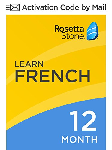 Rosetta Stone: Learn French for 12 months on iOS, Android, PC, and Mac [Activation Code by Mail] by Rosetta Stone
