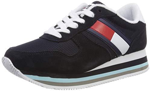 Para Jeans midnight Tommy Mujer 403 Zapatillas Azul Retro Sneaker aIIxzqAw