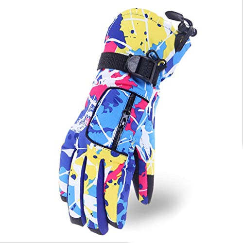 Fanboy Colorful Wear Resistant Women Ladies Ski Gloves Snowboard Gloves Snowmobile Motorcycle Winter Gloves Windproof Snow Gloves ()