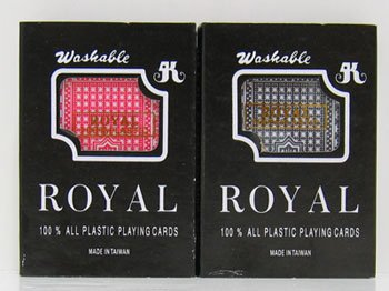 Amazon.com: jpcommerce Royal Par de plástico juego de cartas ...