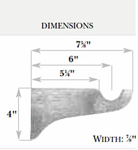 Kirsch Wood Trends Classics 6'' Return Bracket for 1 3/8'' pole, Satin Gold (MPN# 5614EG894)