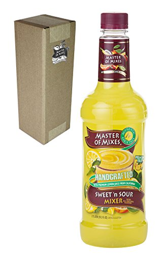 Master of Mixes Sweet & Sour Drink Mix, Ready To Use, 1 Liter Bottle (33.8 Fl Oz)