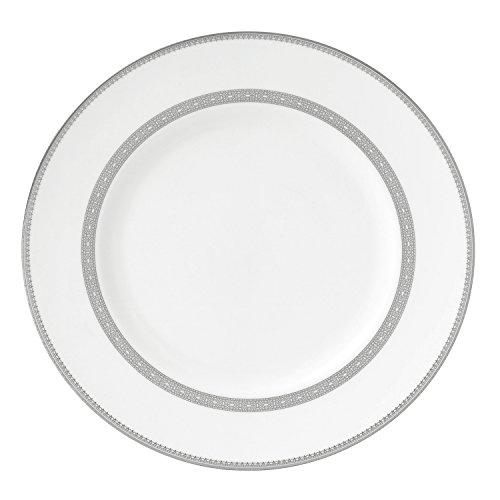 Floral Elegance Platinum Dinner Plate - Wedgwood Vera Lace Dinner Plate, 10.75