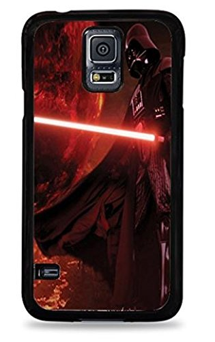 Darth Vader with Lightsaber Darth Vader with Lightsaber Samsung Galaxy S5 Silicone Case - Black Silicone Case - Black- 203