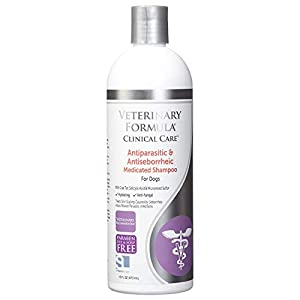 Veterinary Formula Clinical Care Antiparasitic and Antiseborrheic Medicated Shampoo for Dogs (16 oz Bottle)