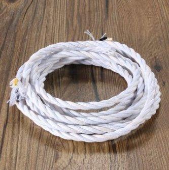 MASUNN 3M Vintage Farbig SIY Twist Geflochtenen Stoff Flex Kabel ...