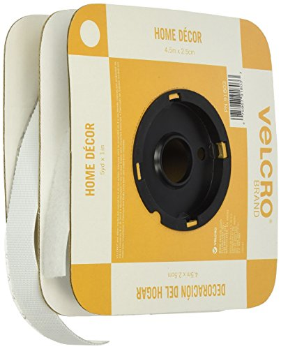 VELCRO Brand Home Decor Tape, 1-Inch by 5-Yard, White