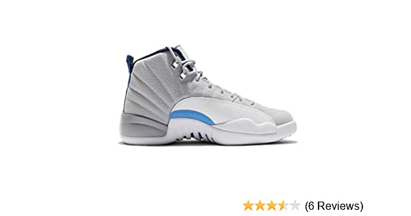 finest selection c8afe 1500f Amazon.com   Jordan Air 12 Retro Wolf Grey UNC University Blue Men s Shoe  Size   Basketball