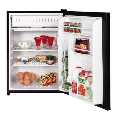 UPC 084691089575, GE Spacemaker GMR06AAPBB 24in Compact Refrigerator 6.0 cu. ft. Capacty, Manual Defrost Freezer Black