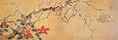 Wintersweet and Swallows Oil Painting Reprodution. Based on Famous Traditional Chinese Realistic Painting. (Unframed and Unstretched).
