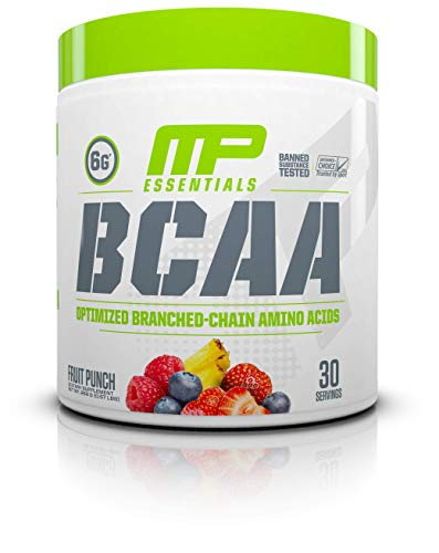MP Essentials BCAA Powder, 6 Grams of BCAA Amino Acids, Post-Workout Recovery Drink for Muscle Recovery and Muscle Building, Valine Powder, BCCA Post-Workout, Fruit Punch, 30 ()