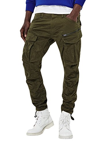 (G-Star Raw Men's Rovic Zip 3D Tapered, Dark Bronze/Green, 34)