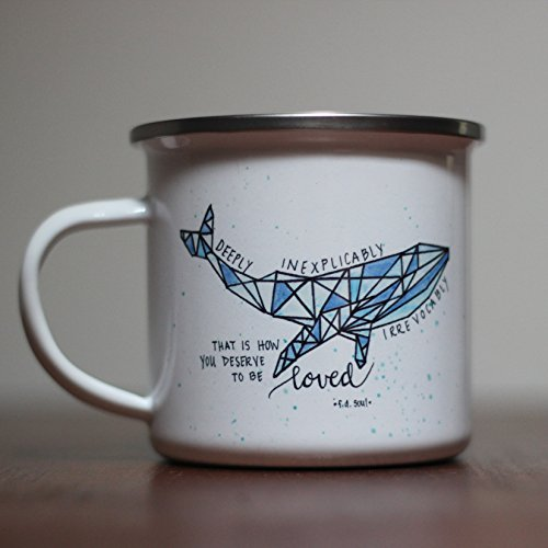 (Watercolor Whale Poem Coffee Mug Gift Tea Cup White 10 oz)