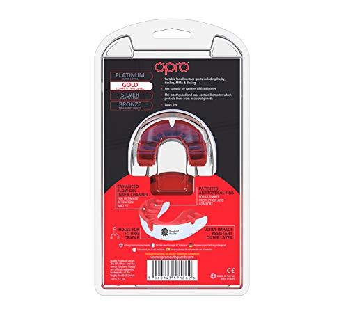Opro Silver Standard Paradenti Rosso