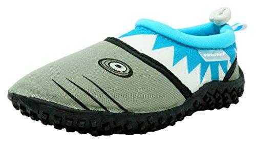 Fresko Toddler Water Shoes for Boys, Shark T1028, Turquoise, 5 M US Toddler