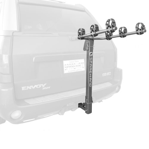 Stoneman Sports VR-701 Sparehand Hitch Mounted 3-Bike Vehicle Rack for All Frame Types and Vehicles, Grey Finish