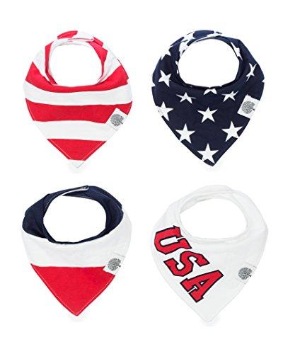 The Good Baby Bandana Drool Bibs – 4 Pack Baby Bibs for Boys, Girls, Unisex -