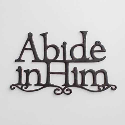 Dayspring Abide in Him - Metal Wall Decor -