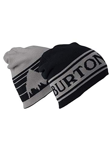 Burton Unisex Billboard Beanie, True Black/Iron Gray, One Size