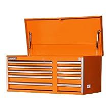 International VRT-4210OR 42-Inch 10 Drawer Orange Tool Chest with Heavy Duty Ball Bearing Slides