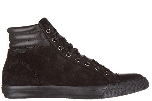 Daim Lauren Chaussures Noir en Polo Hautes Homme Sneakers Baskets Ralph geffron gW8A4n1c