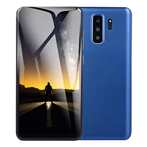 Full Screen Unlocked Smartphone - 5.8 Inch Android HD Display Dual SIM/Camera Cellphone - 3G WiFi 1G RAM+4G ROM Mobile Phone (Blue, 5.8 Inch) (Camera 3g Microsd)