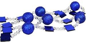 6' Candy Fantasy Royal Blue Beaded Christmas Garland