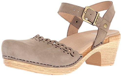 Dansko Women's Marta Flat Sandal, Taupe Milled Nubuck, 38 EU/7.5-8 M US