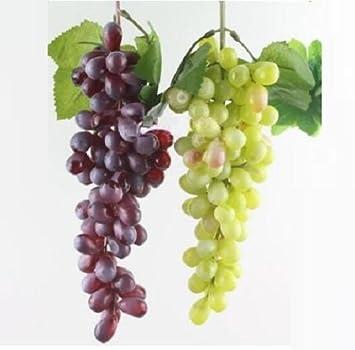 Beau Ucoolbila 85pcs Artificial Grapes Home Decor Fake Plastic Grapes Wedding  Party Christmas Artificial Flora, Red
