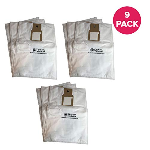 Crucial Vacuum Replacement Vac Bags Part # 20-5068, 20-50681, 20-50688, 20-50690, U-2 - Compatible with Kenmore Type O and Type U Vacuum Cloth Bags for Upright Vacuums - Use for Home (9 Pack) (Canister Vacuum Sanyo)