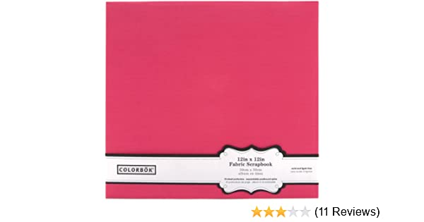 Amazon Colorbok Pink Fabric Scrapbook Album 12 By 12 Inch