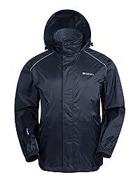 Mountain Warehouse Pakka Mens Waterproof Rain Jacket Lightweight