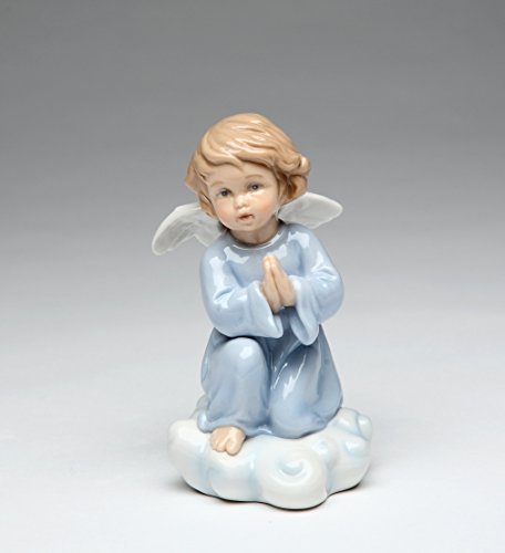 - Cosmos Gifts 10424 Fine Porcelain Inspirational Praying Angel Figurine, 4 1/4