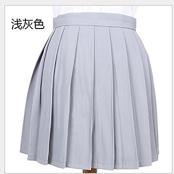 2d8d78bbd5 SONGQINGCHENG Cintura Alta Falda Plisada Chica Estudiante Uniformes  Escolares para Niñas De Falda Plisada