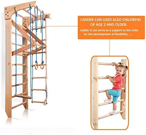 Turnwand Kletterwand Sprossenwand Heimsportgerät Kindersportgerät Sport 220x80